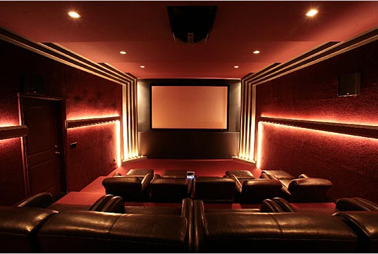 Wall Lights Home Theatre : Tips on Choosing Your Home Theater Lighting - Hooked Up Installs Chicago s Professional Home ...