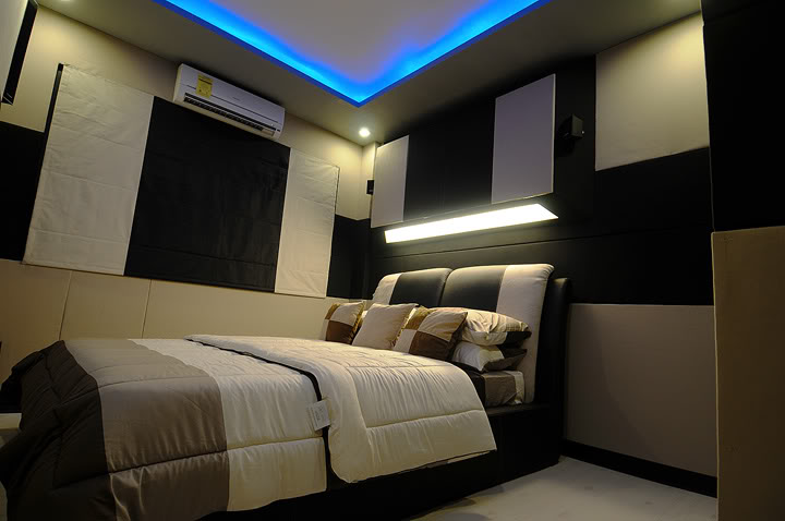 bedroom speakers. This  7 Awesome Bedroom Home Theater Setups Hooked Up Installs